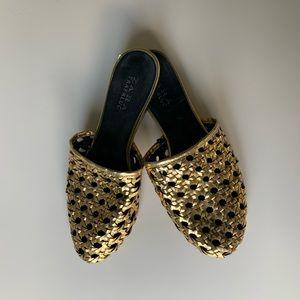 Zara Gold Slides